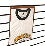 Slatwall Acrylic Graphic T-Shirt Display, Retail Tee Frame with Plastic Insert, 10 Pack