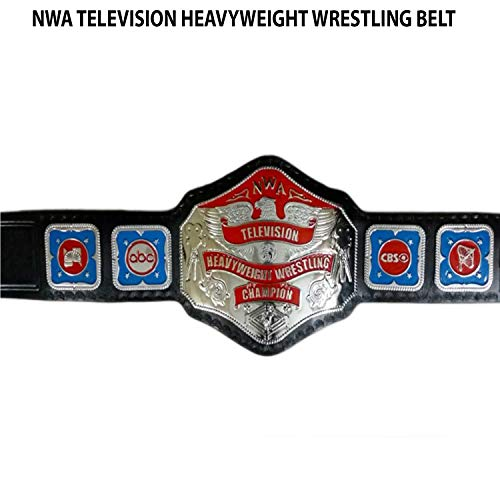 Vitalusa NWA TV Television Heavyweight Wrestling Championship Belt Adult Size Replica Title NWA Belt (Nwa Belt Replica)
