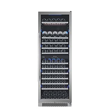 Avallon AWC241TDZRH 24 Inch Wide 141 Bottle Capacity Dual Zone Wine Cooler with