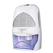 Dehumidifier - HoLife Portable Thermo-Electric Air Conditioner Dehumidifier with Auto Cut-off, Full-Water Reminder, 2L Water Tank for Office, Bathroom, Closet, Kitchen
