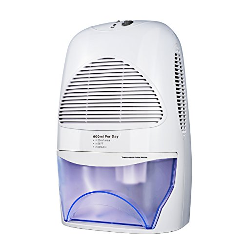 Primacc Portable Dehumidifier, Thermo Electric Dehumidifier With Auto  Cut Off, Full Water Reminder, 2L Water Tank For Office, Bathroom, Closet,  ...