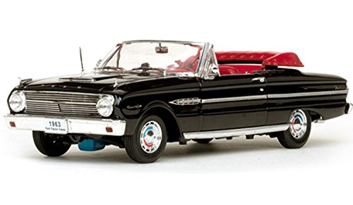 1963 Ford Convertible (1963 Ford Falcon Open Convertible in Raven Black Diecast Model Car in 1:18 Scale by Sun Star)