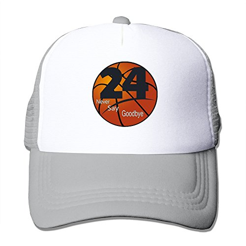 [Handson Unisex-Adult Snapback #24 Never Say Goodbye Basketball Hats Caps Ash] (Mvp Baseball Xbox 360)