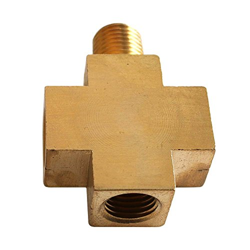 Interstate Pneumatics CPX44-2 - Four-Way Brass Compressor Fitting - 1/4