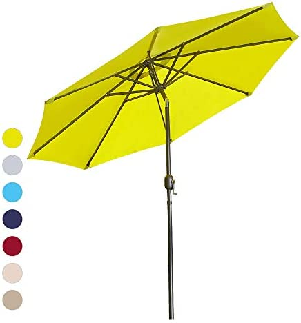 ISINO 9' Patio Umbrella Outdoor Table Umbrella