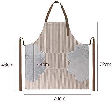 1pcs ACTNOW Delantal con Tres Bolsillos Oxford Impermeable Resistente al Aceite Delantal de Cocina para Mujer Antiincrustante para cocinar