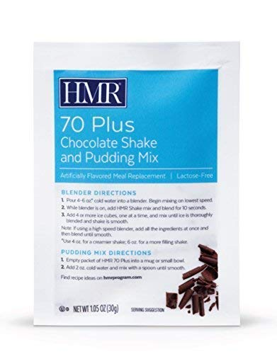 HMR 70 Plus Chocolate Shake and Pudding Mix, 18 Single-Serve Packets   by HMR (Image #1)