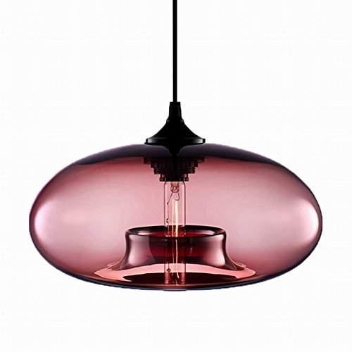 Restaurant Pendant Lighting - Newrays Hanging Kitchen Island Lights Restaurant Dining Cafe Bar Edison Lighting Fixtures (Wine Red)