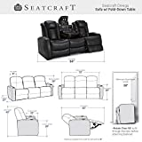 Seatcraft Omega Home Theater Seating - Leather Gel