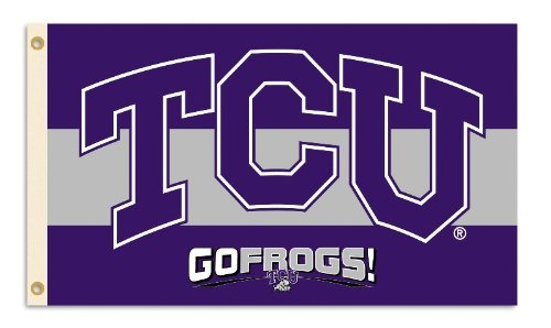 NCAA TCU Horned Frogs 3-by-5 Foot Flag With Grommets -