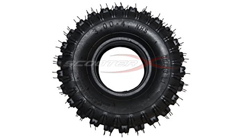 3.00x4 Tire - Commonly Used for Gas Scooters, Pocket Bikes, Mini Choppers, and Go Karts [3101] -  ScooterX, tire 300x4