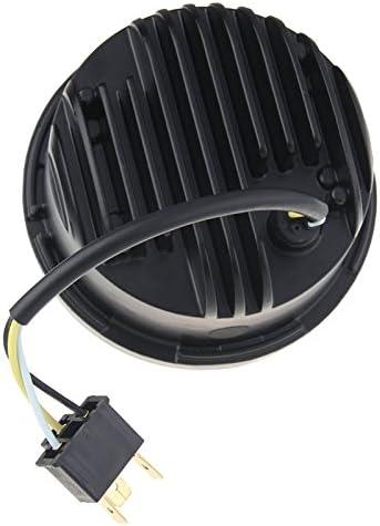 Esyauto Fat Bob FXDF L225 Lot de 2/feux de route ronds /à LED pour moto 40/W 12,7/cm Argent avec DRL