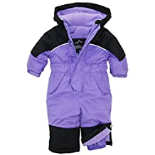 iXtreme Baby Girls' One Piece Snowmobile Snowsuit, Purple, 18 Months