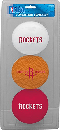 NBA Houston Rockets Kids Softee Basketball (Set of 3), Small, Red