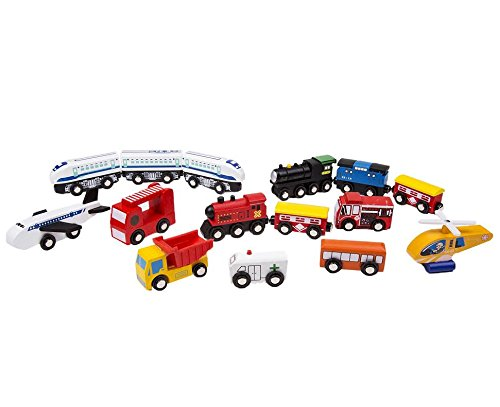 15 Unique Vehicles And Engines Add Variety To Your Set - Compatible With Thomas, Brio