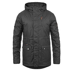 !Solid Bello Manteau d'hiver Parka Veste Longue pour Homme À Capuche