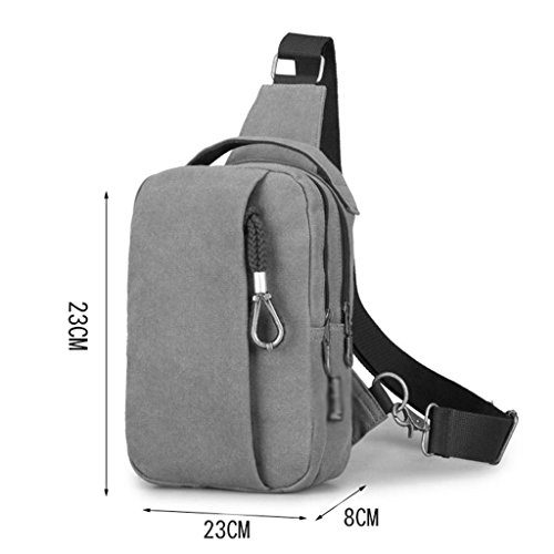 Shoulder Bags Canvas Casual Autumn Waist And Male Beige Tide Packet Beige Zcjb Messenger Men Chest Backpack Bag Package Summer color Zfw6vB