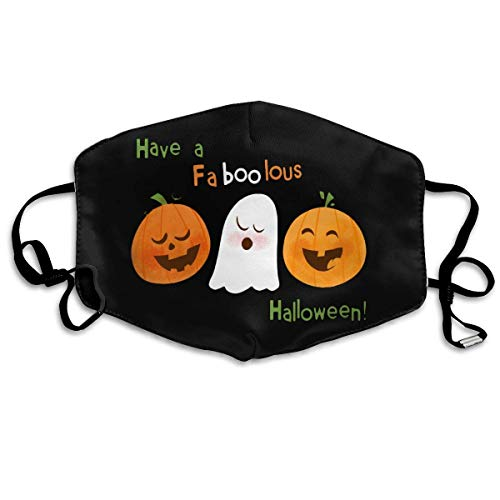 AAA.Yongfugui Have A Faboolous Halloween Unisex Anti-Dust Mouth Mask Face Mask,Anti Bacterial Washable,Reusable Masks Warm Windproof Mask Fashion Outdoor Face Masks with Design -