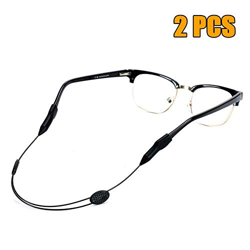 Sport Glasses Strap for Man and Women, Adjustable Eyewear Retainer Sunglasses Chain Holder Strap, Fits Large Head 9.84 to 15.75 Inchs, with 2PCS Eyeglass Strap.