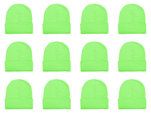 (Gelante Unisex Beanie Cap Knitted Warm Solid Color Multi-Packs (12 Pack:)