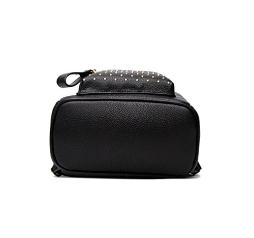 YAANCUN College Cartable Sac Rivet Femme rtaXzr
