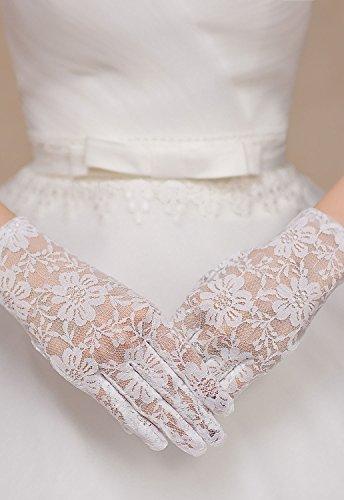 Neuf femmes Blanc en dentelle poignet Gants de mariage Opéra Hen Night Party Wear Gants Accessoires Taille unique Compatible avec la plupart des