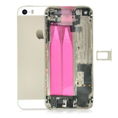 - Best Shopper Back Cover Housing Assembly with Middle Frame Complete with Parts for iPhone 5s - Gold