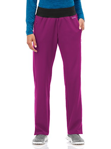 Performance Rx by Jockey Women's Knit Waistband Yoga Scrub Pant Large Petite Plumberry ()