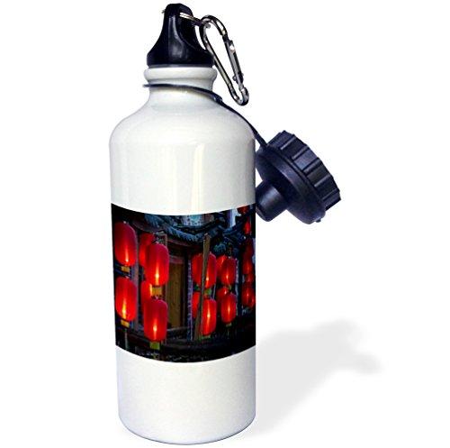 3Drose Wb 71084 1  China  Yunnan  Lijiang  Xinhua Jie  Lanterns As07 Wbi1046 Walter Bibikow  Sports Water Bottle  21 Oz  White