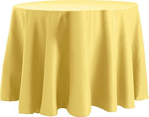 Bright Settings 60 x 108 Inch OVAL Tablecloth, Flame Retardant Basic Polyester, Cornsilk - Cornsilk 100 Capsules