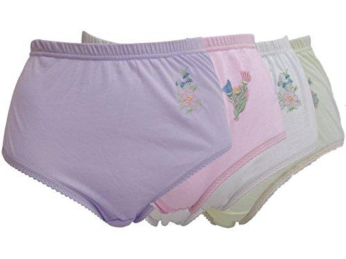 6x Paar Damen-Unterhosen mit schöner Stickerei, Hüftmaße: 96,5- 101 cmbis 162,6- 167,6 cm