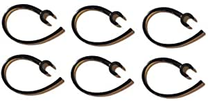 12 Pieces (6-clear/6-black) Earhook Ear Hook Clip Loop Replacement Compatible with Following Bluetooth Headset: Motorola H375