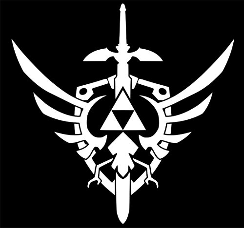 UR Impressions Red Triforce Master Sword and Shield Zelda Inspired Decal Vinyl Sticker Graphics Car Truck SUV Van Wall Window Laptop|RED|5.5 Inch|URI106 R