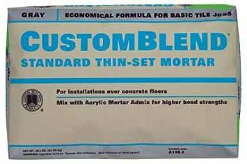 Custom Building Products CBTSG Lb Gray Custom BlendTM ThinSet - Custom blend thin set mortar