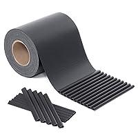 SONGMICS PVC Sichtschutzstreife Zaunfolie Windschutz 2 Rolle (40 m x 19 cm) extra dick mit 50 x Befestigungsclips GPJ080H