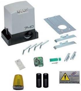 FAAC DELTA 2 740 KIT puerta corredera AUTOMATISMO de bloqueo apricancello eléctrico: Amazon.es: Hogar