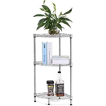 Superieur LANGRIA 3 Tire Corner Wire Shelf Bathroom Corner Shelf Bookcase, Free  Standing Corner Storage