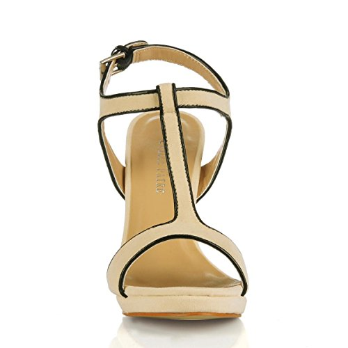 Stiletto 12CM Toe Peep Heels PU Sandals Heel Summer Rubber Women's 4U Best Sole Apricot Suede Summer Shoes High 47PH8xn