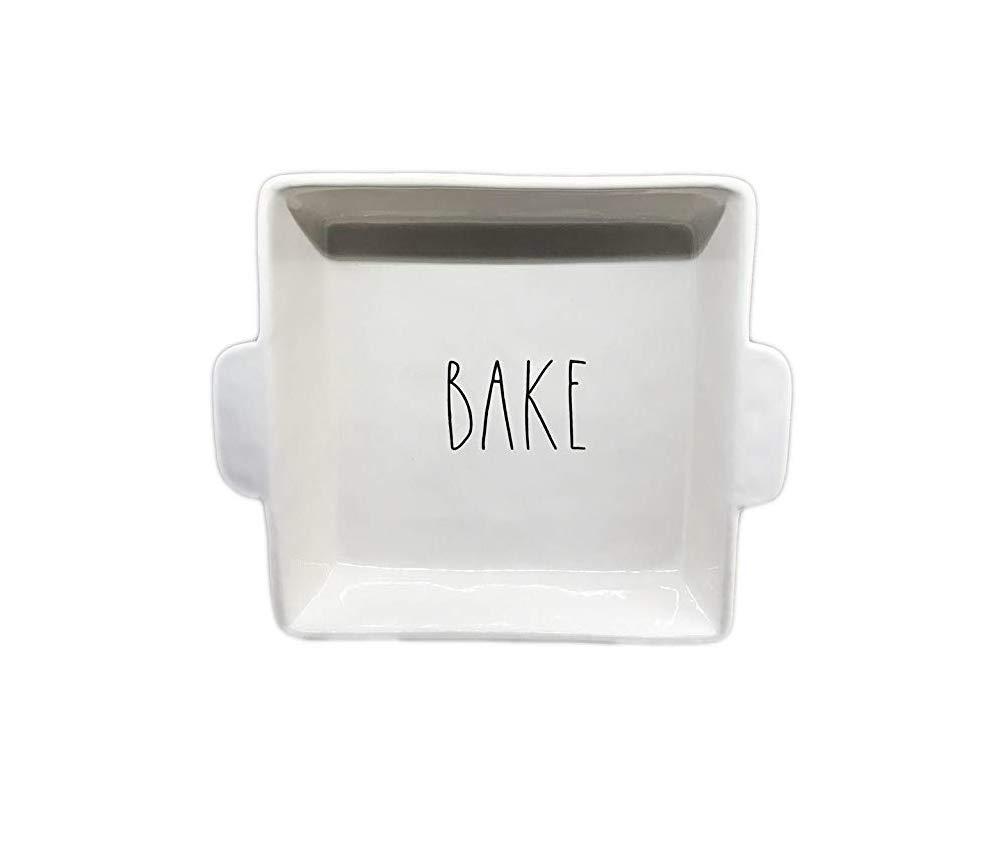 Rae Dunn Artisan Collection Magenta Large Square Bake Dish Pan