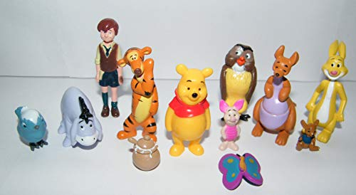 Disney Winnie the Pooh Deluxe Party Favors Goody Bag Fillers Set of 12 Figures with Eeyore, Tigger, Piglet, Honey Pot, Owl, Rabbit and More! -