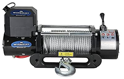 Viper Midnight 8500lb 4x4 Off Road Jeep Truck Recovery Winch with Steel Cable