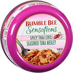 BUMBLE BEE Sensations Seasoned Tuna Medley 4 oz Bowl - Spicy Thai Chili