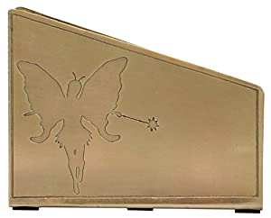 "7"" Metal Napkin Holder/Tissue Dispenser/Napkins Upright Stand - Handmade Silver ""Fairy & Star"" Design Chic & Modern Dining Kitchen Restaurant Bar Office Shop Tabletop Essentials"