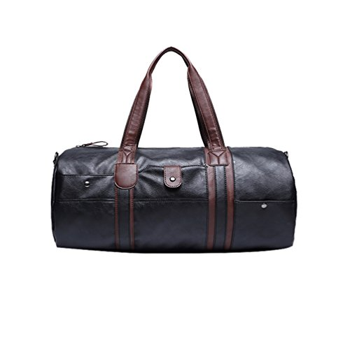 Uomini Viaggio Di Bag Mano Pelle Grande Big Con A In Da Borse Nero Dell'unità Elaborazione Jitong Borsa v84RX4