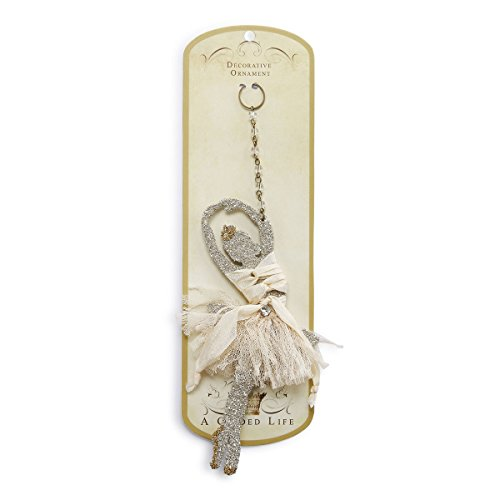 Gilded Ballerina Christmas Ornament from A Gilded Life 2020160181 (Gilded Iron Chain)