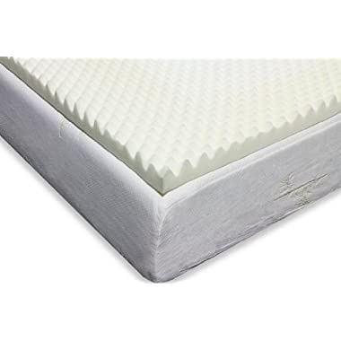 Milliard 2-Inch Egg Crate Ventilated Memory Foam Mattress Topper, Full