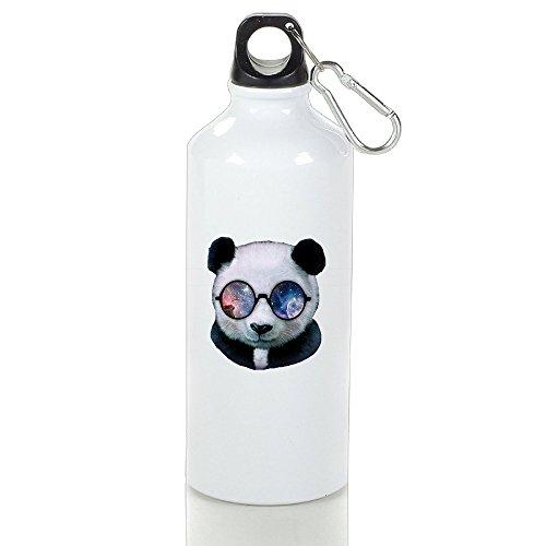Macevoy Panda Wear Nerd Round Eyeglass Fun-DIY Outdoor Or Indoor Sporting Useful Custom Sports Water Bottle For Outdoor And Sport - Diy Nerd
