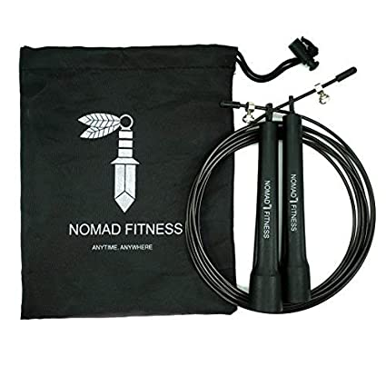 Nomad Fitness Premium Quality Cross Fit Jump Rope | Boxing Fitness Training  | MMA Skipping Rope for Men and Women |Cardio Training Fitness Rope |