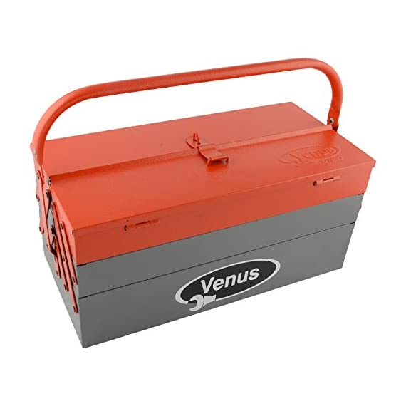 Venus VTB Metal Tool Box with 5 Compartment Box (Red) 1