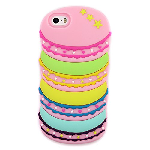 Cute iPhone 4S Case Cute iPhone 4 Case Cute 3D Cartoon Rainbow Food Cookies Shaped CasTeen Girls Women Soft Silicone Rubber Protective Cover Cute Phone Cases iPhone 4S / 4 (iPhone 4/4S) (Cute Iphone 4 Cases For Girls)